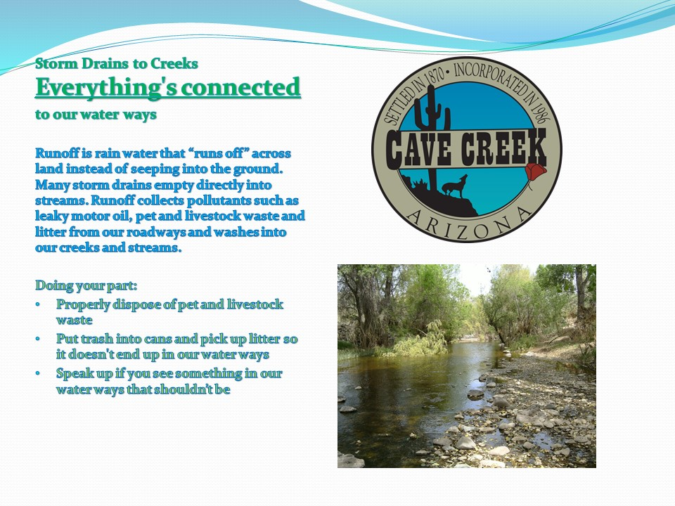 Storm Drains to Creeks infographic